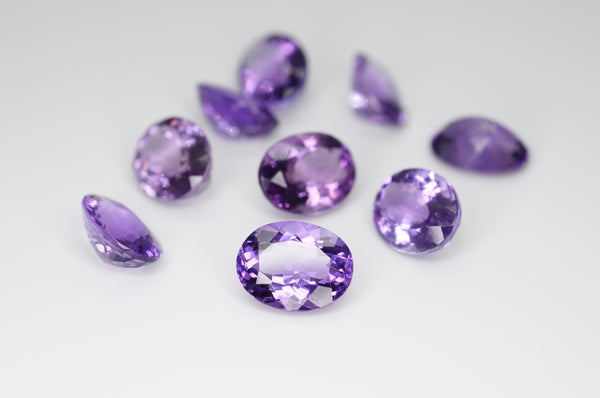 9 x 7mm Oval Cut Natural Amethyst Calibrated A++