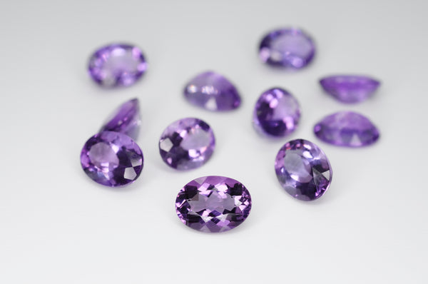 8 x 6mm Oval Cut Natural Amethyst Calibrated A++