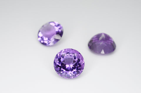 10mm Round Cut Amethyst Calibrated A++