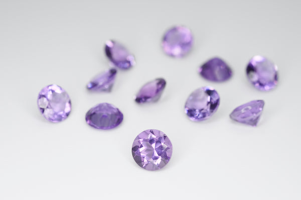 6mm Round Cut Natural Amethyst Calibrated A++