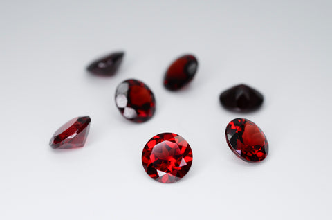 7mm Round Cut Natural Garnet Calibrated A+