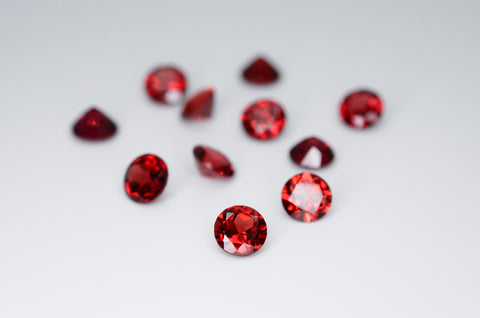 5mm Round Cut Natural Garnet Calibrated A+