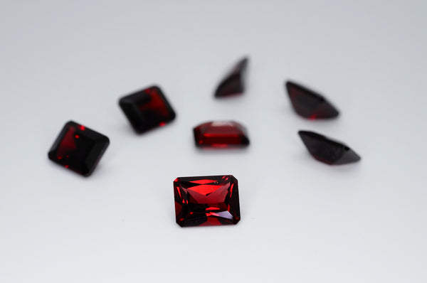 9 x 7mm Octagon Cut Natural Garnet Calibrated A+