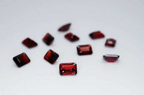 7 x 5mm Octagon Cut Natural Garnet Calibrated A+