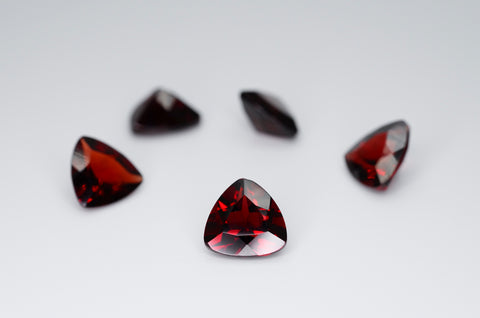 8mm Trilliant Cut Natural Garnet Calibrated A+