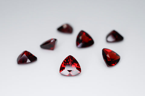 7mm Trilliant Cut Natural Garnet Calibrated A+