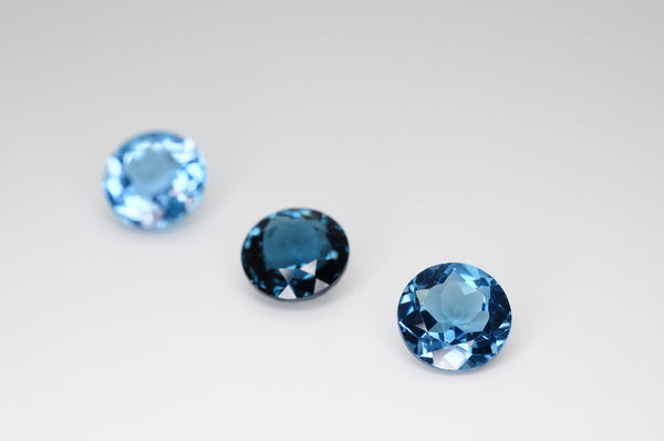 8mm Round Cut Natural London Blue Topaz Calibrated A+