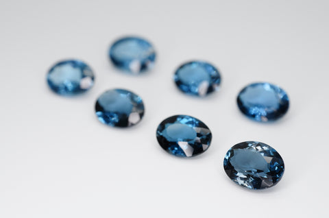 9 x 7mm Oval Cut Natural London Blue Topaz Calibrated A+