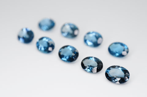 8 x 6mm Oval Cut Natural London Blue Topaz Calibrated A+