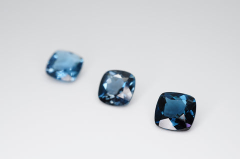 8mm Cushion Cut Natural London Blue Topaz Calibrated A+