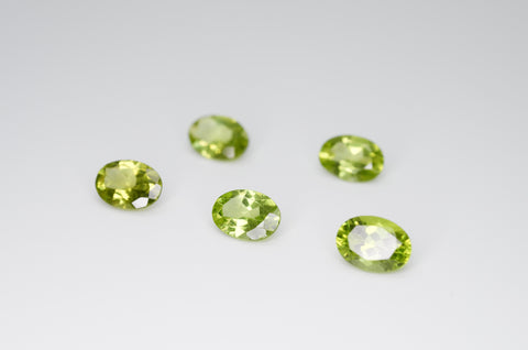 7 x 5mm Oval Cut Natural Peridot Calibrated A+