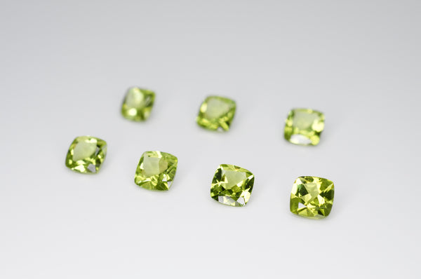 5mm Cushion Cut Natural Peridot Calibrated A+