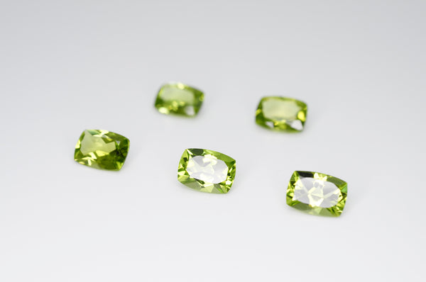 7 x 5mm Cushion Cut Natural Peridot Calibrated A+