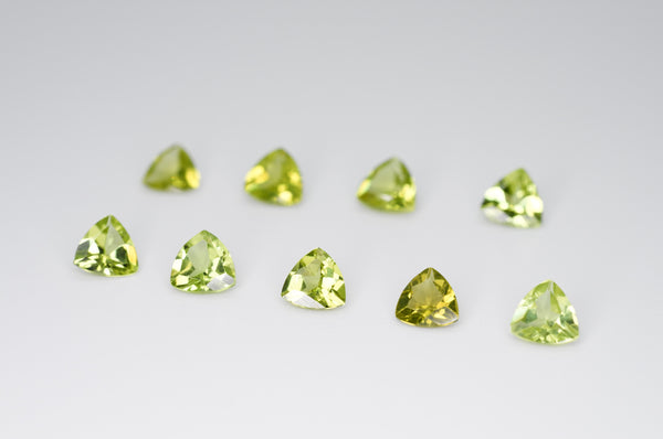 5mm Trilliant Cut Natural Peridot Calibrated A+