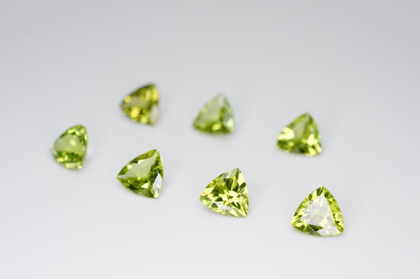 6mm Trilliant Cut Natural Peridot Calibrated A+