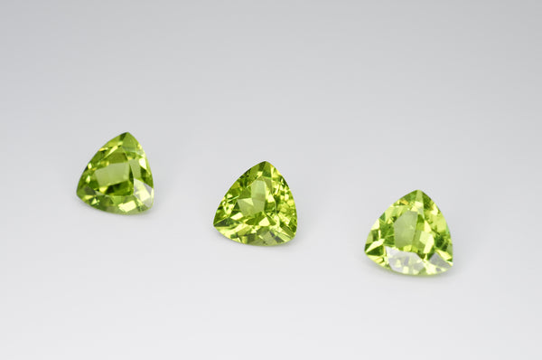 8mm Trilliant Cut Natural Peridot Calibrated A+