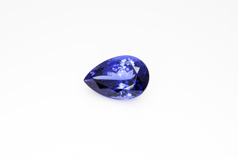 17 x 11.5 x 9mm Pear Cut Tanzanite 4A
