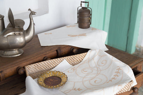 Scrolls Cotton Table Linen