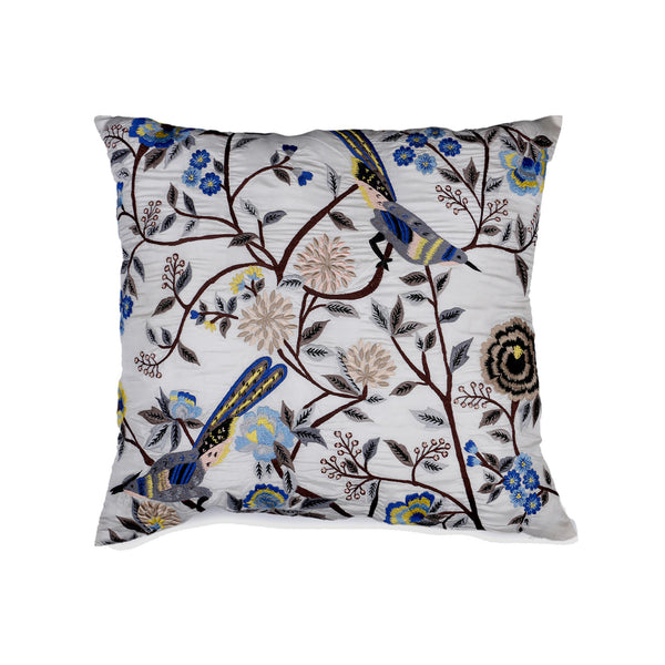Birds of Paradise Silk Decorative Cushion