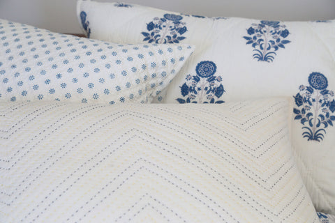 Nilgiri Pick Stitch Quilt and Pillow Shams