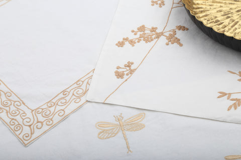 Dragonfly Cotton Table Linen