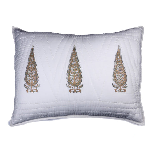 Kalash Hand Block Printed Quilt and Pillow Shams