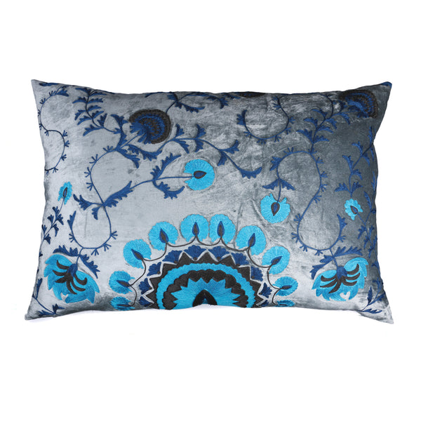 Khiva Cloud Grey Silk Decorative Cushion