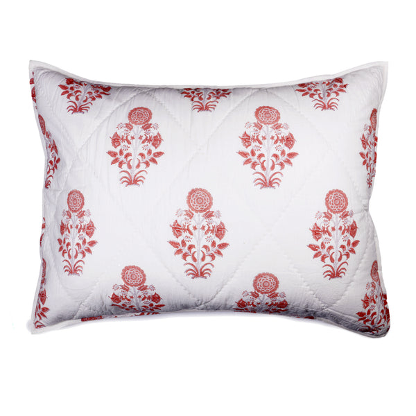Kusum Hand Block Printed Quilt and Pillow Shams