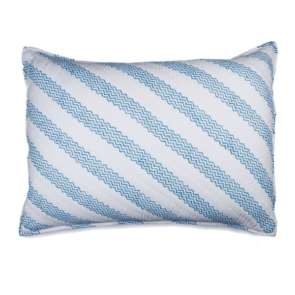 Zigzag Hand Block Printed Quilt and Pillow Shams