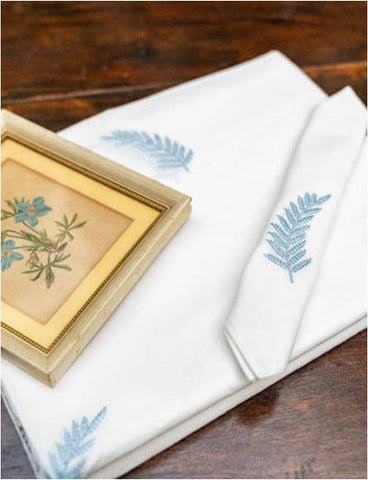 Fern Motif Tablecloths & Matching Napkin Sets