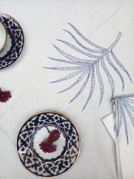 Palm Leaf Kantha Tablecloths & Matching Napkin Sets