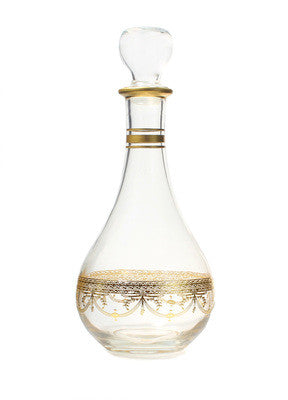 Classic Touch Wine Decanter With Rich Gold Design