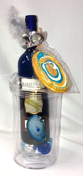 Blue Agate Stone Wine Cooler