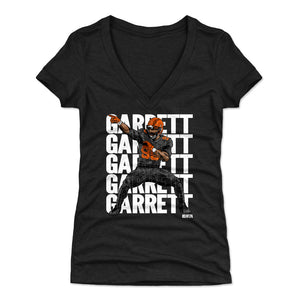 Myles Garrett Women's V-Neck T-Shirt | 500 LEVEL
