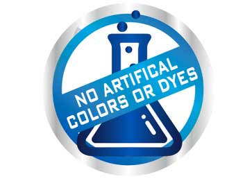 no artificial dyes or colours