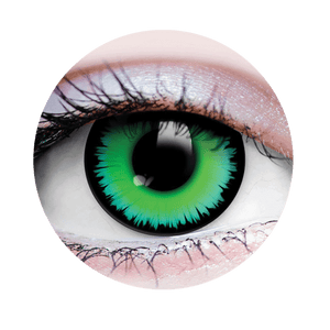 PRIMAL® werewolf Green and black Halloween Costume Contact Lenses-close up
