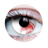 PRIMAL® undead transforming zombie eye white & red Halloween Costume Contact Lenses-close up