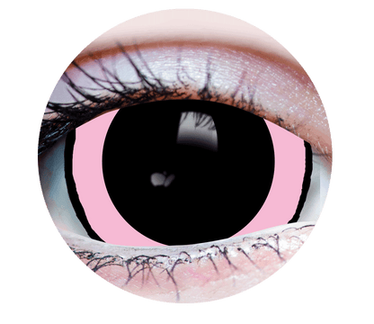 Mini Sclera-Pink-Acid1-Halloween Costume Contact Lens-Close Up