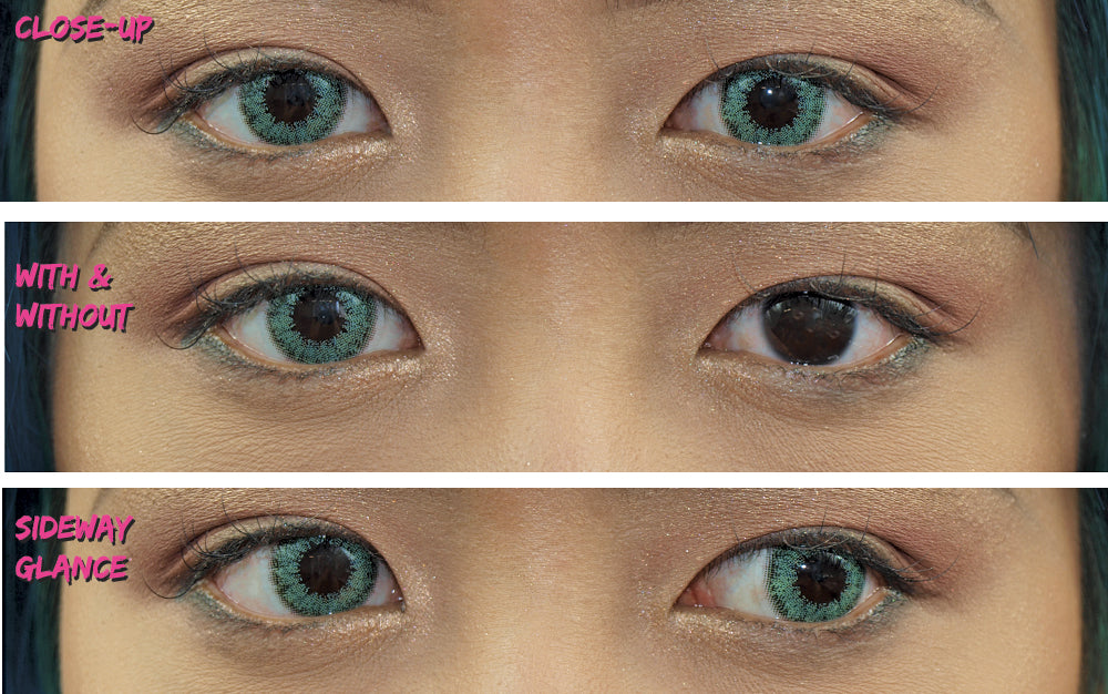 PRIMAL®  Celestial Jade (green)  Coloured Contact Lenses- Make up