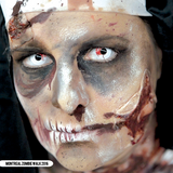 PRIMAL® undead transforming zombie eye white & red Halloween Costume Contact Lenses-make up