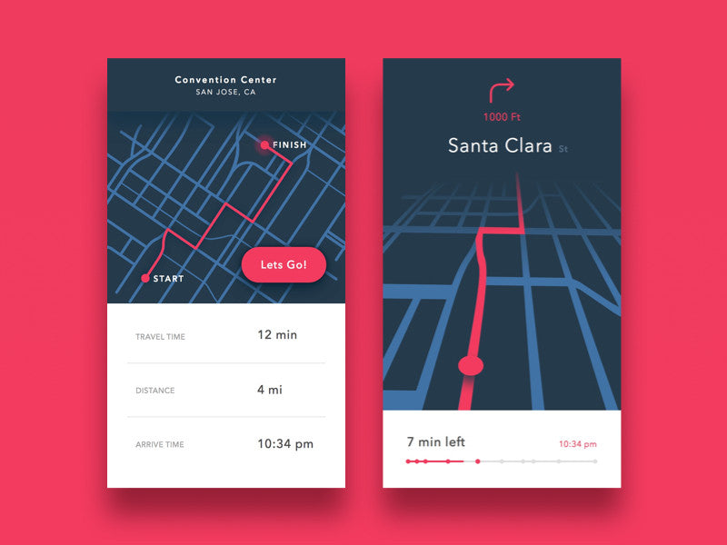 Maps Mobile UI Kit
