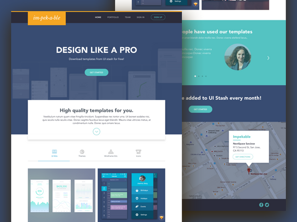 UI Stash Landing Page by Impekable