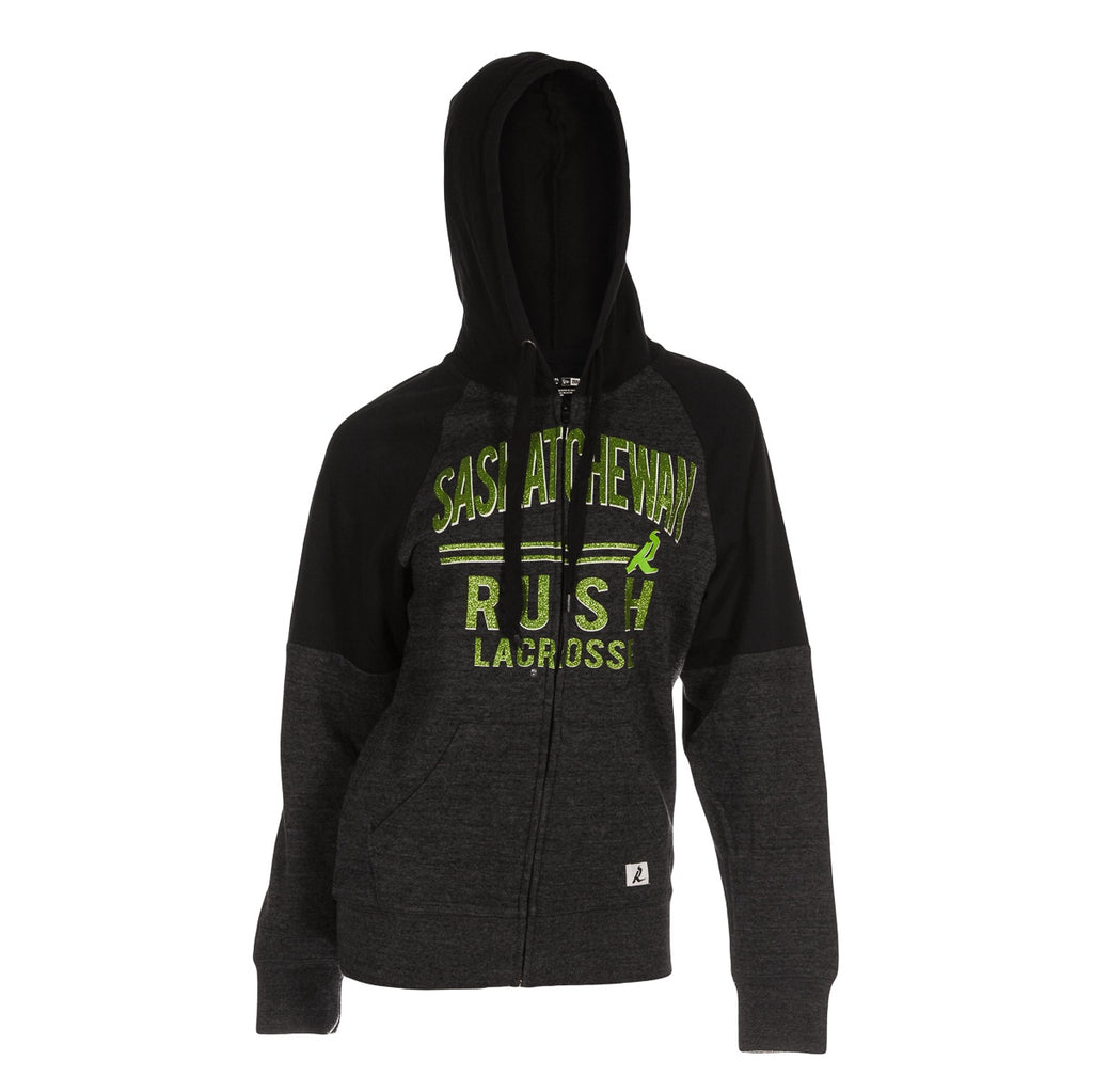 5th & O - Womens Tri-Blend Glitter Two-Tone FZ Hoody