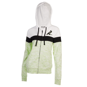 5th & O - Womens Space Dye FZ Hoody Lime