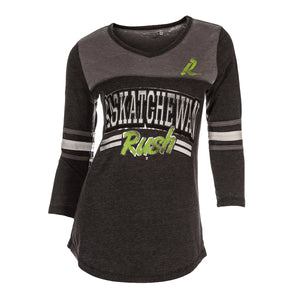 5th & O - Womens Varsity Foil 3/4 Slv T