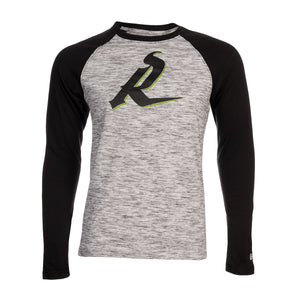 5th & O - Mens 'R' Space Dye LS T - BLK