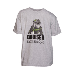 Bruiser 'Bad To The Bone' T - Youth - Grey