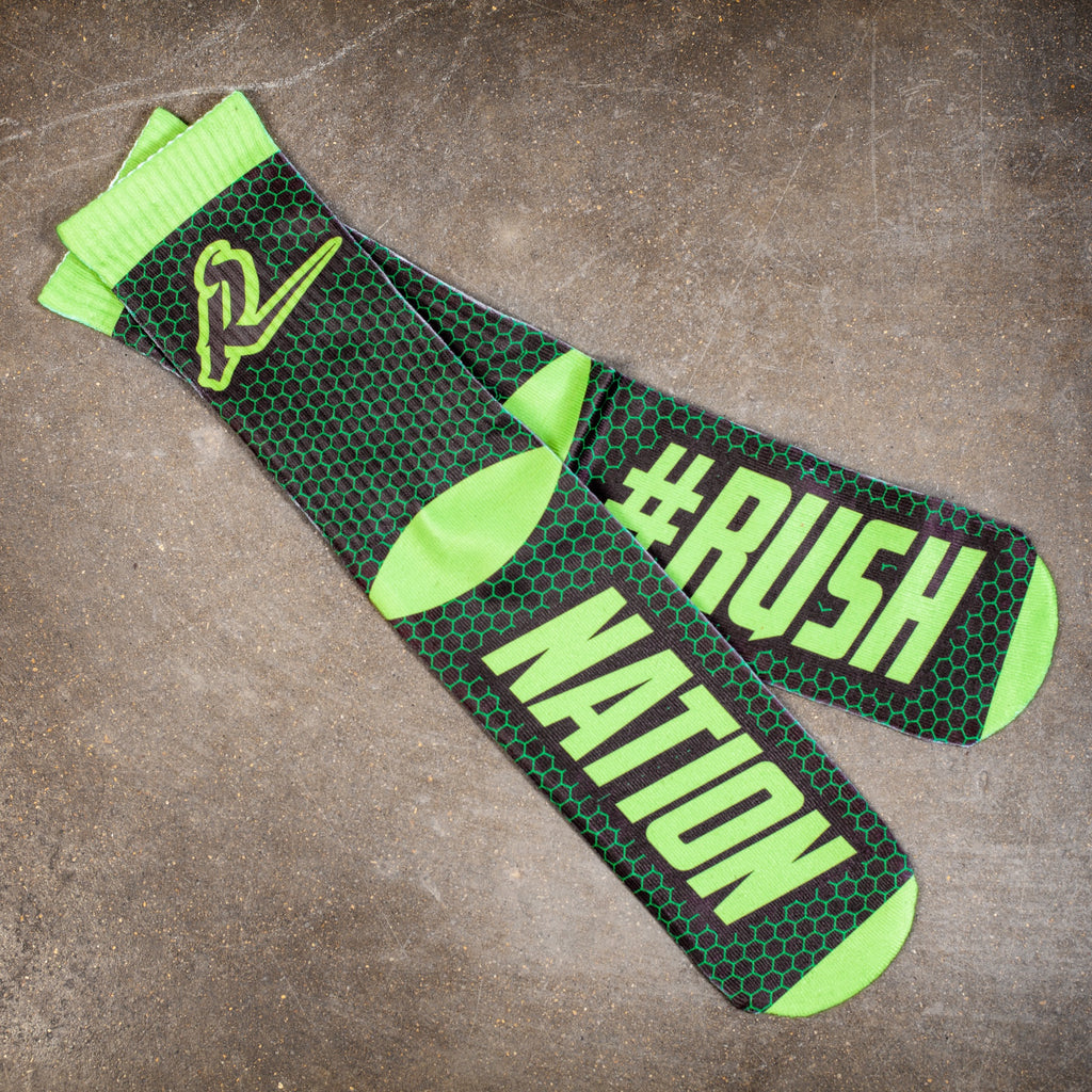 Sublimated Socks #Rush Nation