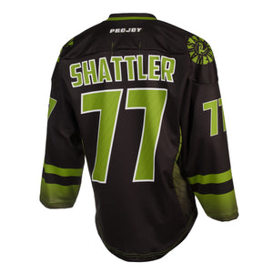 Replica Adult #77 Jeff Shattler Jersey - 2018 - Black