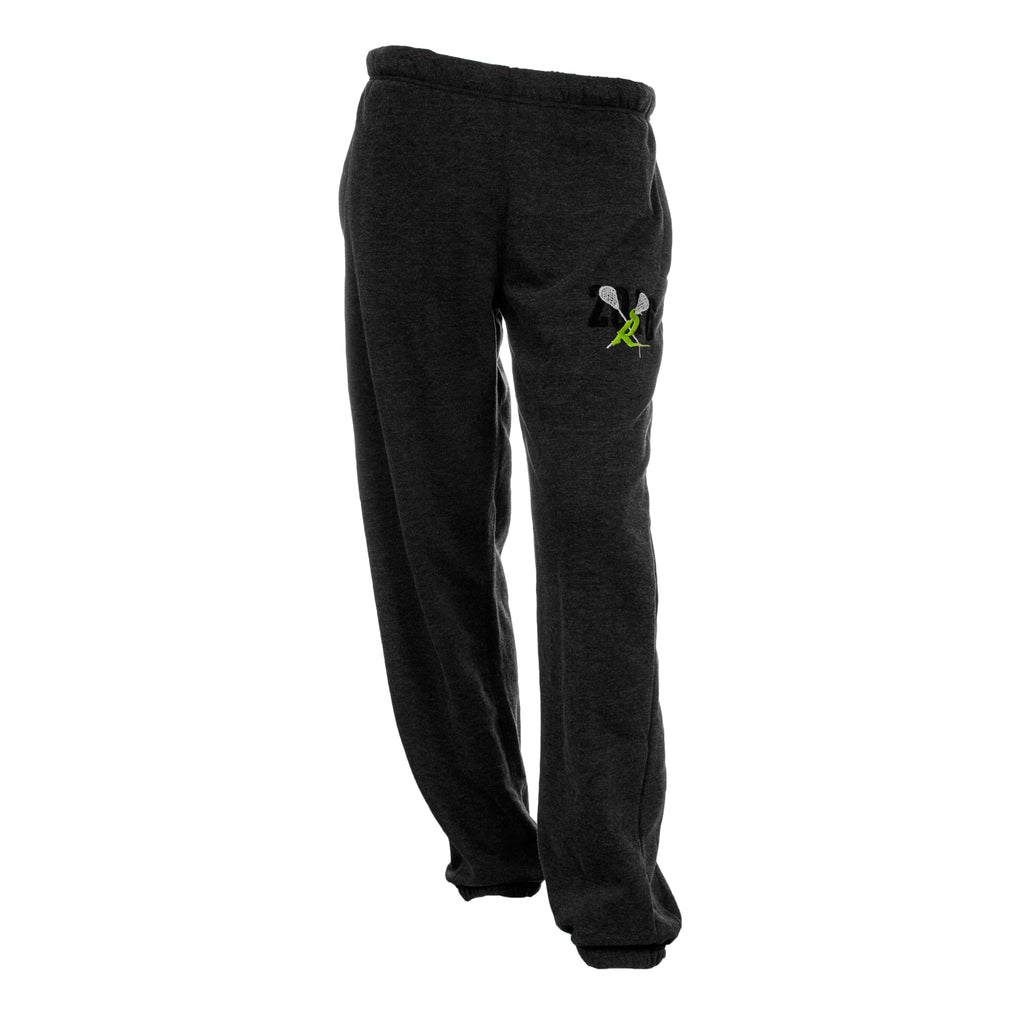 Mens Elastic Bottom Sweat Pant - Heathered Black